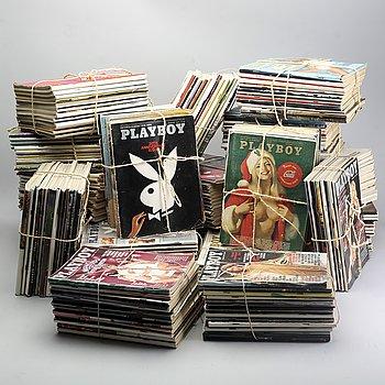 A set of 222 Playboy magazines 1964-1985.