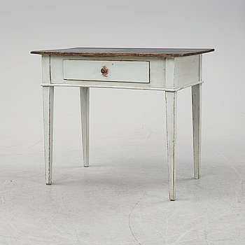 A painted desk, second half of the 19th Century.
