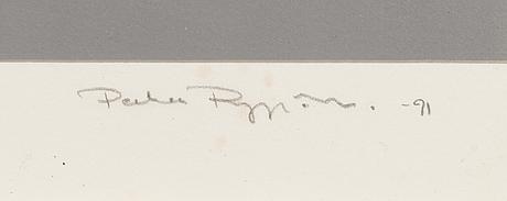 Pekka ryynänen, silkscreen, signed and dated -91, numbered 37/50.