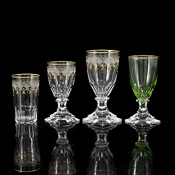 "A part glass service, partly ""Kosta Junior"", 20th Century."