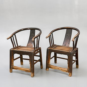 Chairs, China, a pair, 20th century.