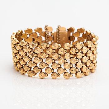 Armband, 17-18K guld.