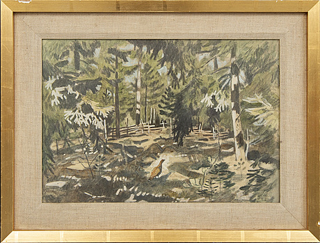 Harald wiberg, a signed and dated water colour.