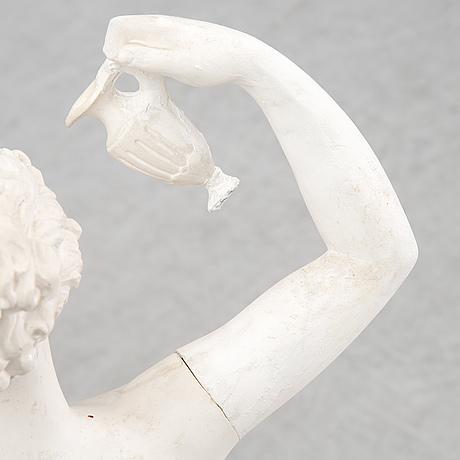 Sculpture, plaster. signed. height 89 cm.