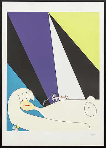 Marie-louise ekman, a signed, dated and numbered colour lithograph.