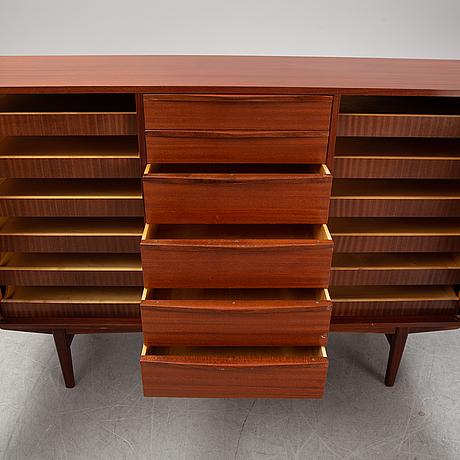 A teak sideboard, ab carlsson & reicke stockholm. mid 20th century.
