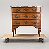 A late baroque chest of drawers, first half of the 18th century.