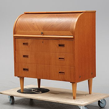 A teak secretaire, second half of the 20th Century.