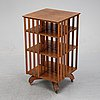 An oak revolving book case, early 20th century.