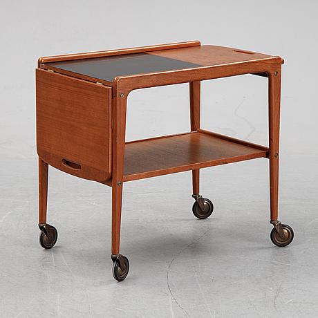 A 'thea' teak  tea trolley by yngve ekström, mid 20th century.