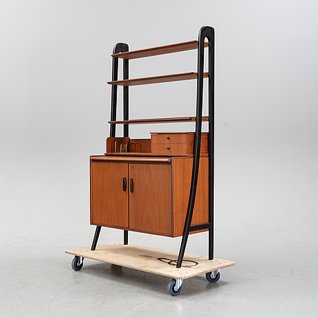 A teak book case with cabinet, 1960's.