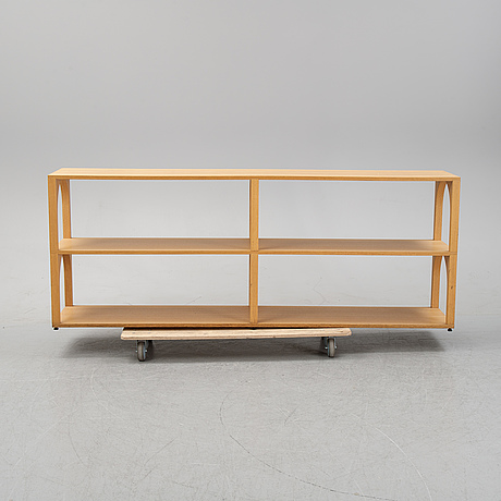 Claesson koivisto rune, an oak bookcase, model 'portico', living divani.