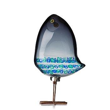 "57. Alessandro Pianon, a ""Pulcino"" glass sculpture of a bird, Vistosi, Murano, Italy 1960's."