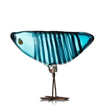 "60. Alessandro Pianon, a ""Pulcino"" glass sculpture of a bird, Vistosi, Murano, Italy 1960's."