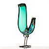 "Alessandro pianon, a ""pulcino"" glass sculpture of a bird, vistosi, murano, italy 1960's."