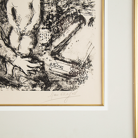 Marc chagall, lithograph, 1969, signed in pencil 26/40.
