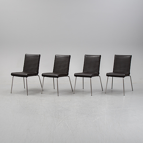 """Olle andersson, stolar, 4 st, """"quick"""", offecct."""