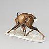 Figurin, porslin, adolf roehring för rosenthal, tyskland, 1950-tal.
