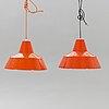 """Louis poulsen, ceiling lamp, """"verkstadspendel"""", 2 pcs."""