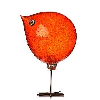 "59. Alessandro Pianon, a ""Pulcino"" glass sculpture of a bird, Vistosi, Murano, Italy 1960's."