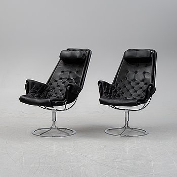Bruno Mathsson, a pair 'Jetson' armchairs for Dux.