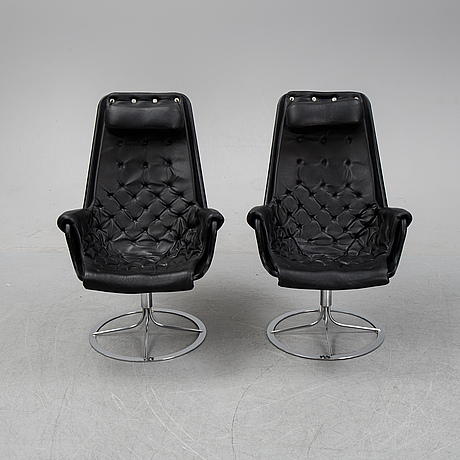 Bruno mathsson, a pair 'jetson' armchairs for dux.