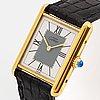 Must de cartier, tank, wristwatch, 23 x 23,5 (30,5) mm.