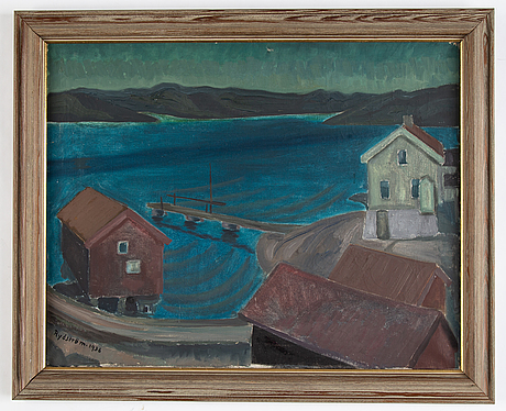 Lilly rydström-wickelberg, oil on canvas, signed and dated 1936.