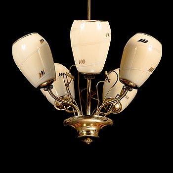 A mid-20th century chandelier for Saariston Valaisin.