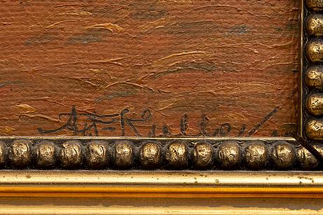 Axel theodor kulle,, olja på duk signerad och daterad 19 (?).