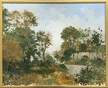 Kaj Stenman, oil on canvas signed and dated -90.