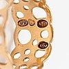 "Liisa vitali, a 14k gold ring ""pitsi"". westerback, helsinki 1973."