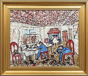 Uno Vallman, oil on canvas signed.