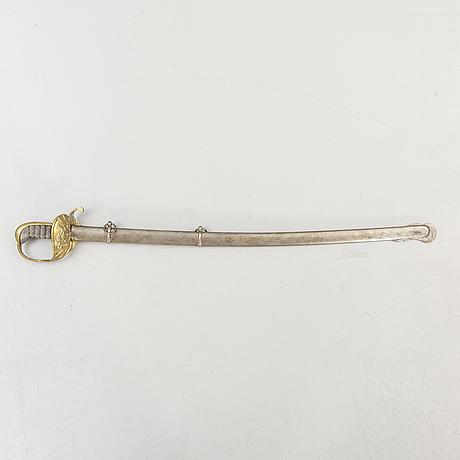 A royal swedish artillery nco sabre m/1862.