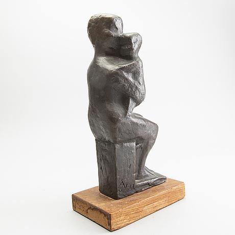 Åke jönsson, skulptur, brons, signerad, numrerad.