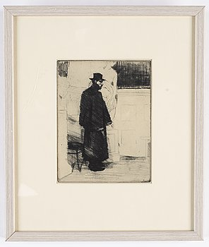 Axel Fridell, etching.