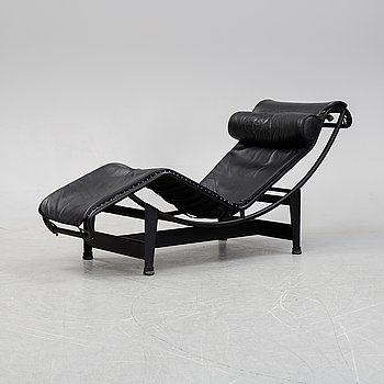 Le Corbusier, Pierre Jeanneret, Charlotte Perriand, an 'LC4' recliner, Cassina, Italy.