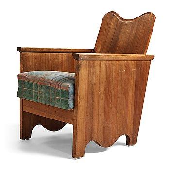 "309. Axel Einar Hjorth, a stained pine easy chair ""Utö"", Nordiska Kompaniet, Sweden 1930's."