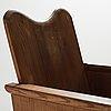 "Axel einar hjorth, a stained pine easy chair ""utö"", nordiska kompaniet, sweden 1930's."