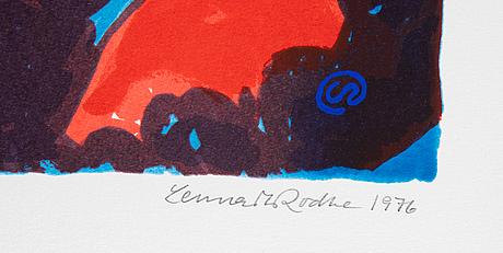 Lennart rodhe, silkscreen in colours, 1976, signed 68/75.