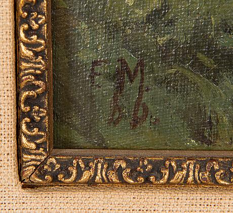 Elias muukka, öljy levylle, signeerattu ja päivätty-86.