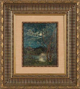 Elias Muukka, oil on panel, signed and dated-86.