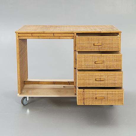 "Desk, ""bal vera"", rattan, 1960s."