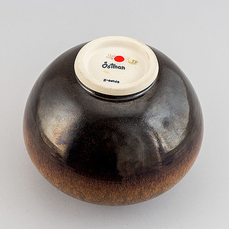 Lasse östman, a stoneware vase, signed.