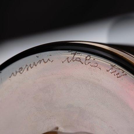 "Tapio wirkkala, a ""lapponi"" glass vase, venini, italy 1960's."