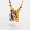 """Björn weckström, an 18k gold necklace """"diamond city"""", 18k gold and diamonds ca. 0.11 ct in total. lapponia 1985."""