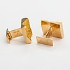 """Björn weckström, """"ravines"""", a pair of 14k gold cufflinks . lapponia 1966."""