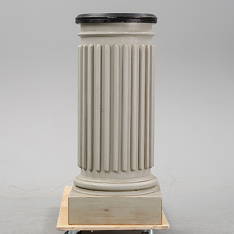 A painted pedestal, 20th century.