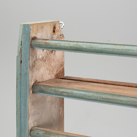 A painted pine shelf, late 20th century.