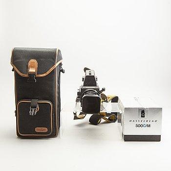 A Hasselblad 500 C/M camera.